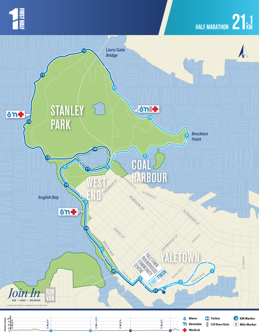 First Half Half Marathon Course Map